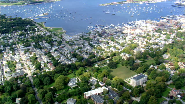 the Elms Mansion  - Aerial View - Rhode Island, Newport County, United States