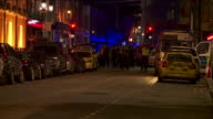The emergency services respond to the London terror attack of 3rd June 2017 UK