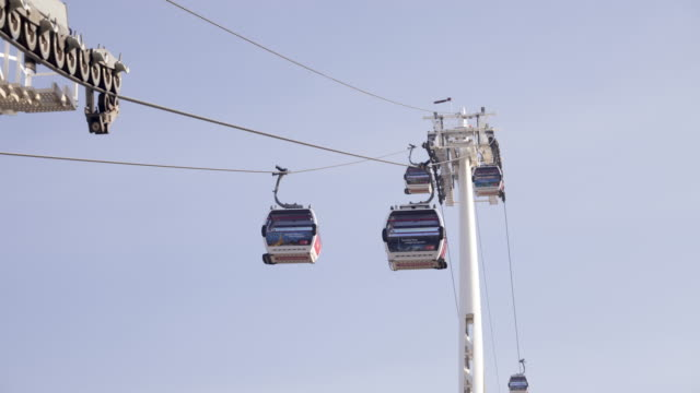 The Emirates Air Line cable car in London, England.