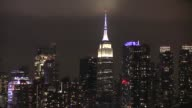 The Empire State Building's lights are turned off to mark the Earth Hour 2017 environmental campaign in New York USA on March 25 2017 The lights were...