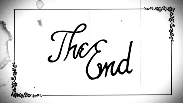 The end film with sound