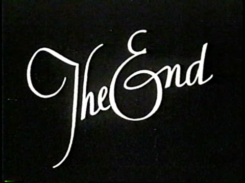 The End. NTSC, PAL