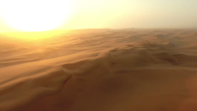 The end of the day over the Namibian Desert