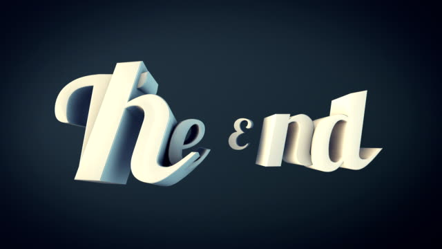 3D The End Word Animation