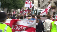 The English National Alliance and English Defence League marched past Downing Street demonstrating against the rise of Islamic fundamentalism and...
