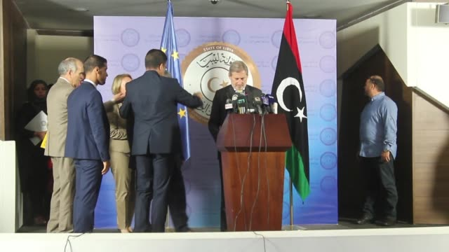 The European Commissioner for European Neighbourhood Policy and Enlargement Negotiations Johannes Hahn delivered a press conference in the Libyan...
