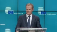 The European Council is not a forum for the Brexit negotiations says European Council President Donald Tusk at a Brussels summit after British PM...