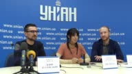 The Eurovision Song Contest 2016 winner Jamala attends a press conference and premiere for journalists her music video for the song '1944' in...