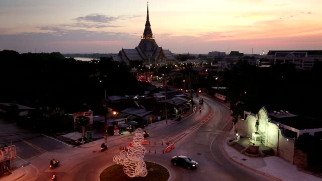 The evening light ,watsothornwararam in Thailand