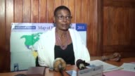 The executive secretary of REDHAC Maximilienne says Ahmed Abba of Radio France International's Hausa language service who was accused nearly two...