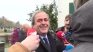 The fallen head of European football Michel Platini appears at FIFAs headquarters on Monday to appeal against his eight year ban from the sport over...