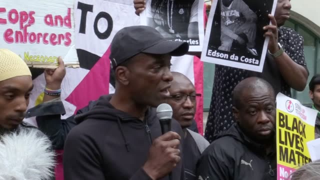 The family of a black man who died after a police chase have made a fresh plea for 'peace on the streets' following violent clashes in east London...