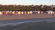 The famous beach houses of Brighton Beach, Melbourne.
