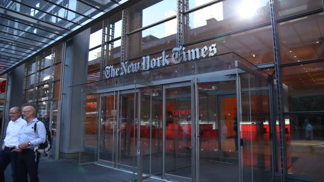 The FBI is investigating Russian Hackers attempts to hack the NY Times New York Times panning shot Close and wide shots Shots of New York Times...