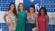 The Final Five Aly Raisman Madison Kocian Laurie Hernandez Simone Biles at 2016 MTV Video Music Awards Arrivals at Madison Square Garden on August 28...