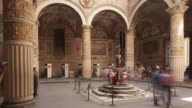 The first courtyard inside Palazzo Vecchio, Florence, Italy.
