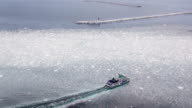 The first drift ice of the year floated around the coastline here in Japan's far north on Feb 2The belts of ice arrived at the regular time this year...