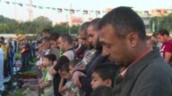 The first Eid al Adha prayer in Gaza city was held at Yarmouk Stadium on Tuesday morning CLEAN Palestinians in Gaza perform morning Eid p on October...