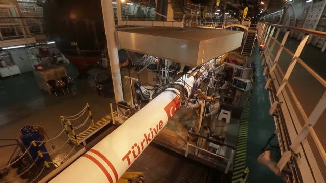 The first pipeline of the TurkStream Offshore Gas Pipeline enters the Turkish Exclusive Economic Zone on 4 November 2017 the Russian company...