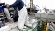 "The fishing port in Katsuura Chiba Prefecture Japan came to life on Jan 19 as a ship brought in the season's first catch of ""katsuo"" bonito caught by..."