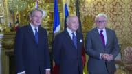 The foreign ministers of France Britain and Germany as well as EU foreign affairs chief Federica Mogherini held discussions on Syria in Paris on...