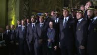 The French rugby team gathered in Greenwichs Old Royal Naval College on Monday for the welcome ceremony of the 2015 World Cup