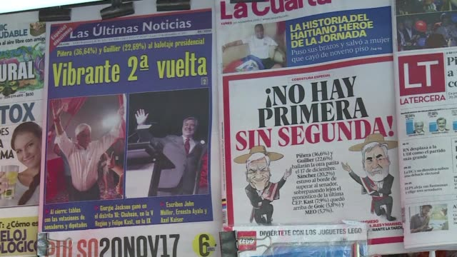 The front pages of the newspapers in Chile on Monday were dominated by the unexpectedly tight results of the first round of the country's...