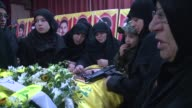 The funeral of a Hezbollah commander killed in an Israeli strike on the Syrian Israeli border was held on Tuesday in the South of Lebanon