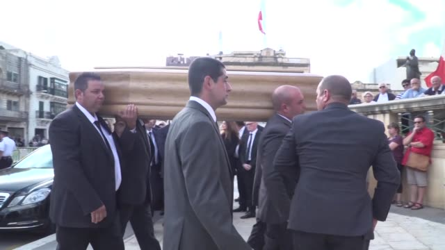 The funeral of murdered Maltese journalist Daphne Caruana Galizia took place in Mosta on Friday