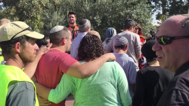The funeral was held on Tuesday for an Israeli woman killed when a Palestinian stabbed her outside a West Bank settlement along with two others