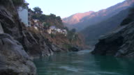 The Ganges flows through a valley near the town of Devprayag.