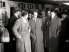 The German Association football team arrive at Liverpool Street station