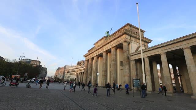 The goddess Eirene rides her quadriga atop the Brandeburg Gate in Berlin Germany on Monday 27th October gvs of the Brandenburg Gate