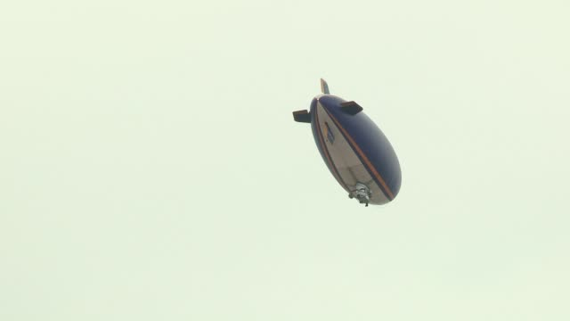 The Good Year Blimp overhead at Olympic Stadium on July 27 2012 in London England