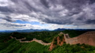 T/L WS HA TD The Great Wall under rolled clouds / Beijing, China