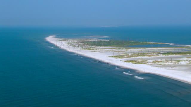 The Gulf Islands National Seashore juts onto the open sea.