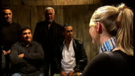 The Gypsy Kings interview and acapella singing The Gypsy Kings introduce themselves SOT Diego Tonino Canut Pablo and Andre Gypsy Kings interview SOT...