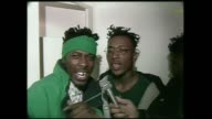 The GZA aka The Genius and ODB of The WuTang Clan perform a freestyle rap with ODB doing the beatbox at Club Homebase in NYC