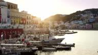 The harbor of Ponza, in the Tyrrhenian Sea