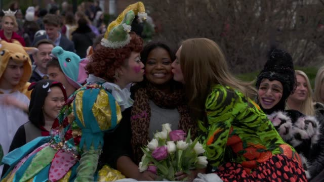 CHYRON – The Hasty Pudding Theatricals Honors Octavia Spencer as 2017 Woman Of The Year on January 26 2017 in Cambridge Massachusetts