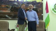 The head of the International Committee of the Red Cross Peter Maurer met with the leader of the movement Hamas in Gaza as well as civil society...