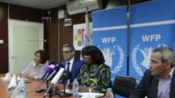 The head of the United Nations World Food Programme Ertharin Cousin who has been visiting Yemen urged on Monday the international community to help...