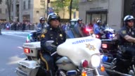 The Hudson County Police Norwalk Police Madison Police Newark Police and Bloomingdale Police Department parade during the Columbus Day Parade on 5th...