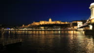 The Hungarian Parliament building at night, river Danube, Budapest City, Hungary.