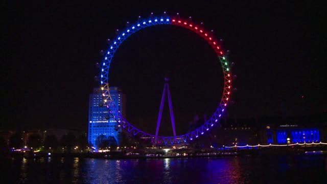 The iconic London Eye is being lit every night from Friday until the general election on May 7 with the colours of political parties reflecting the...
