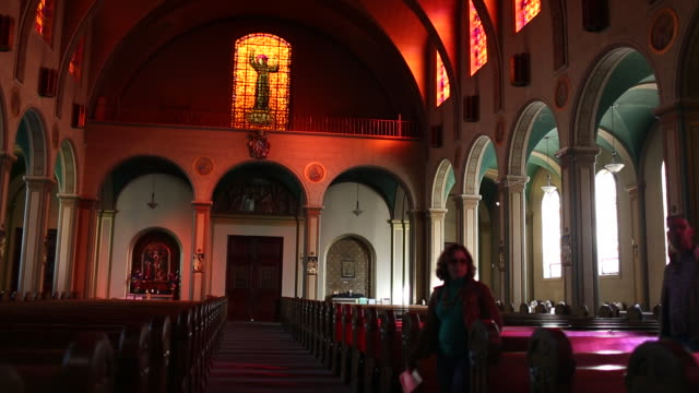 The inside of Mission Dolores in San Francisco.