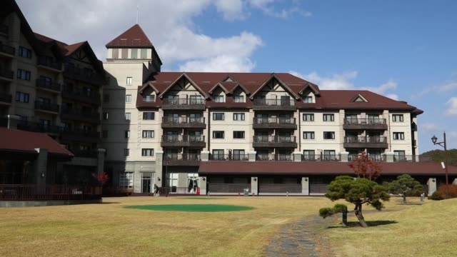The InterContinental Alpensia Pyeongchang Resort operated by InterContinental Hotels Group Plc stands in the Alpensia Resort in Pyeongchang Gangwon...