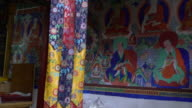 The interior of the main prayer room of the Samstanling Monastery, Nubra Valley, Ladakh, India