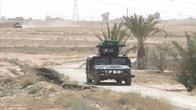 The Iraqi army and Shiite militias continue to fight Islamic State group militants west of the city of Samarra north of Baghdad in an effort to...