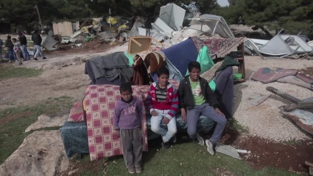 The Israeli army demolished several makeshift shacks home to Palestinian Bedouins in the town of Azariya in the occupied West Bank on Thursday with...